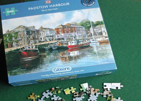Padstow harbour with pieces